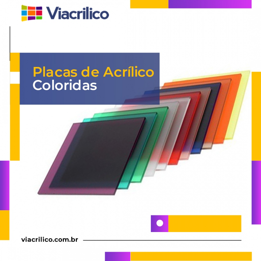 Placas de Acrílico Colorida